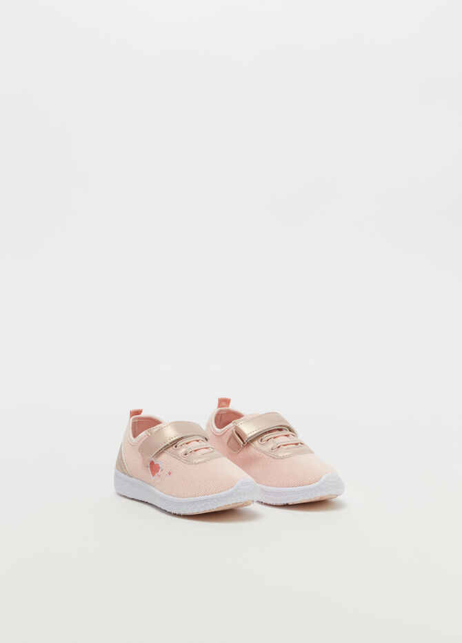 Sneakers with diamantés and Velcro fastening