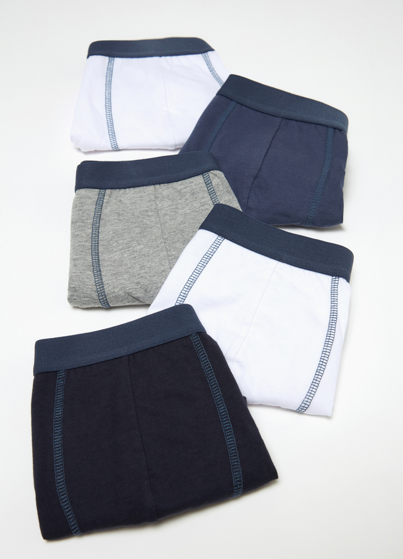 Five-pack boxer shorts with external elastic image number null