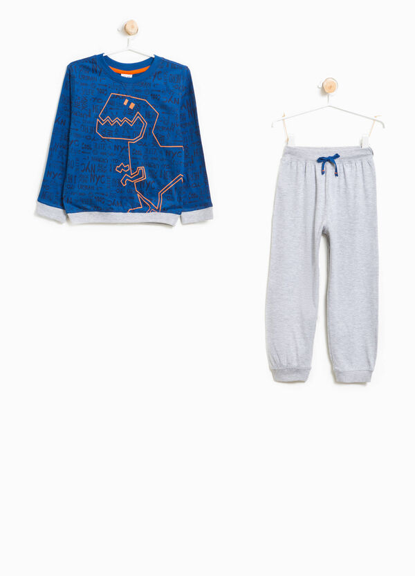 Patterned pyjamas with dinosaur print | OVS