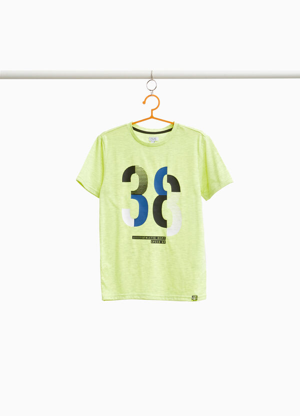 Cotton blend mélange T-shirt