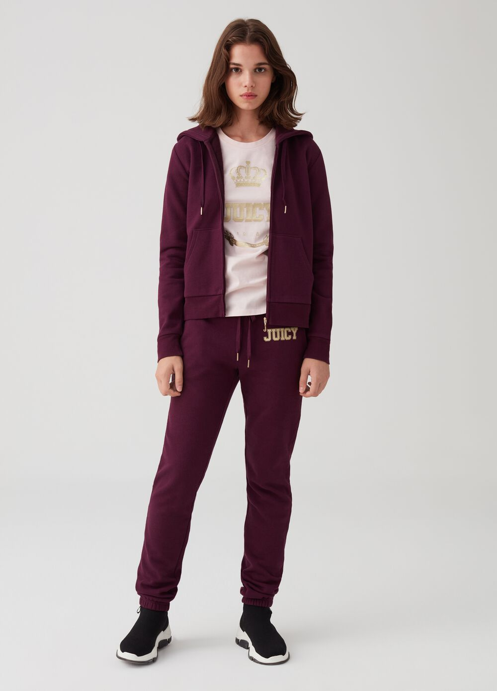 Soft trousers with lettering print