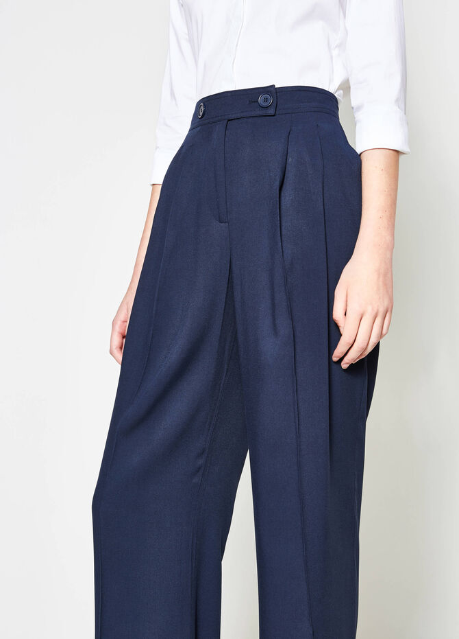 Palazzo trousers with crease