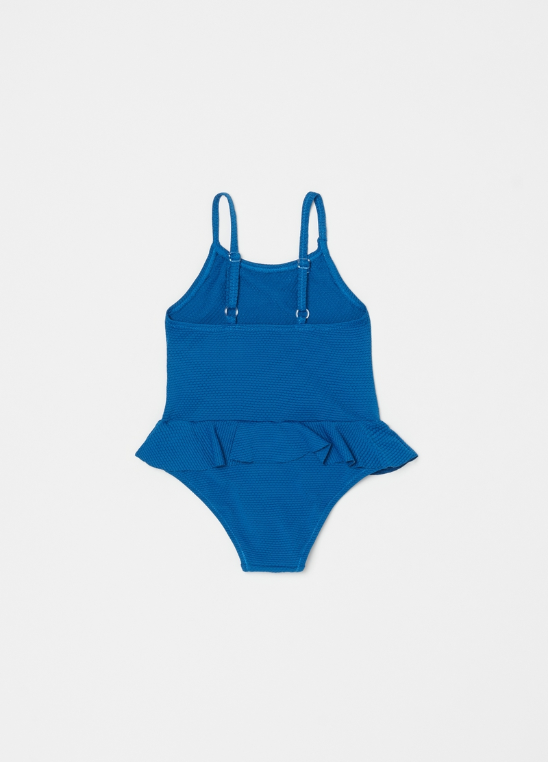 Solid colour one-piece swimsuit image number null