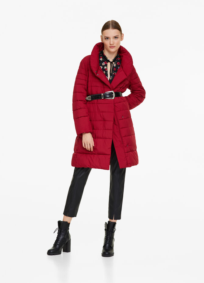 Long padded jacket with high neck