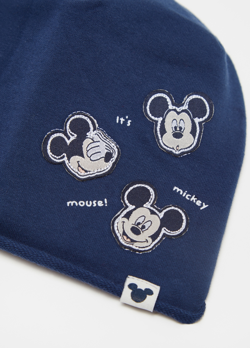 Hat in French terry with Mickey Mouse patch image number null