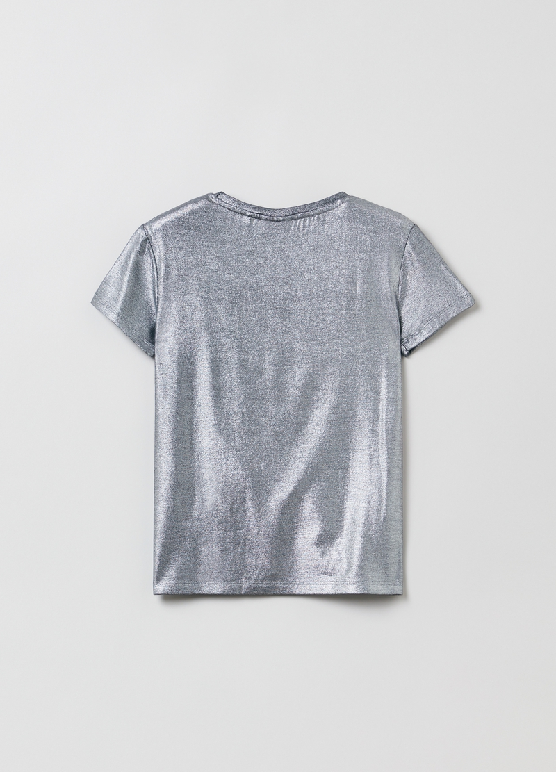 T-shirt girocollo in foil image number null