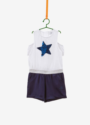 Stretch pinafore with star sequins