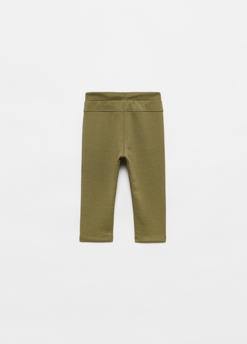 Joggers in cotton with drawstring image number null