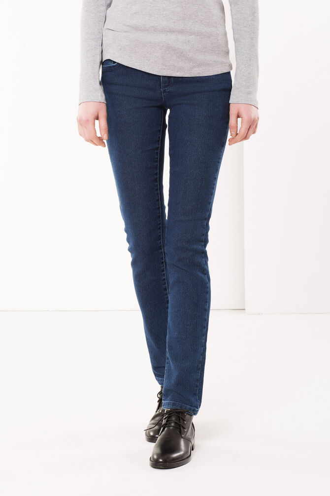 Five-pocket jeans with zip closure