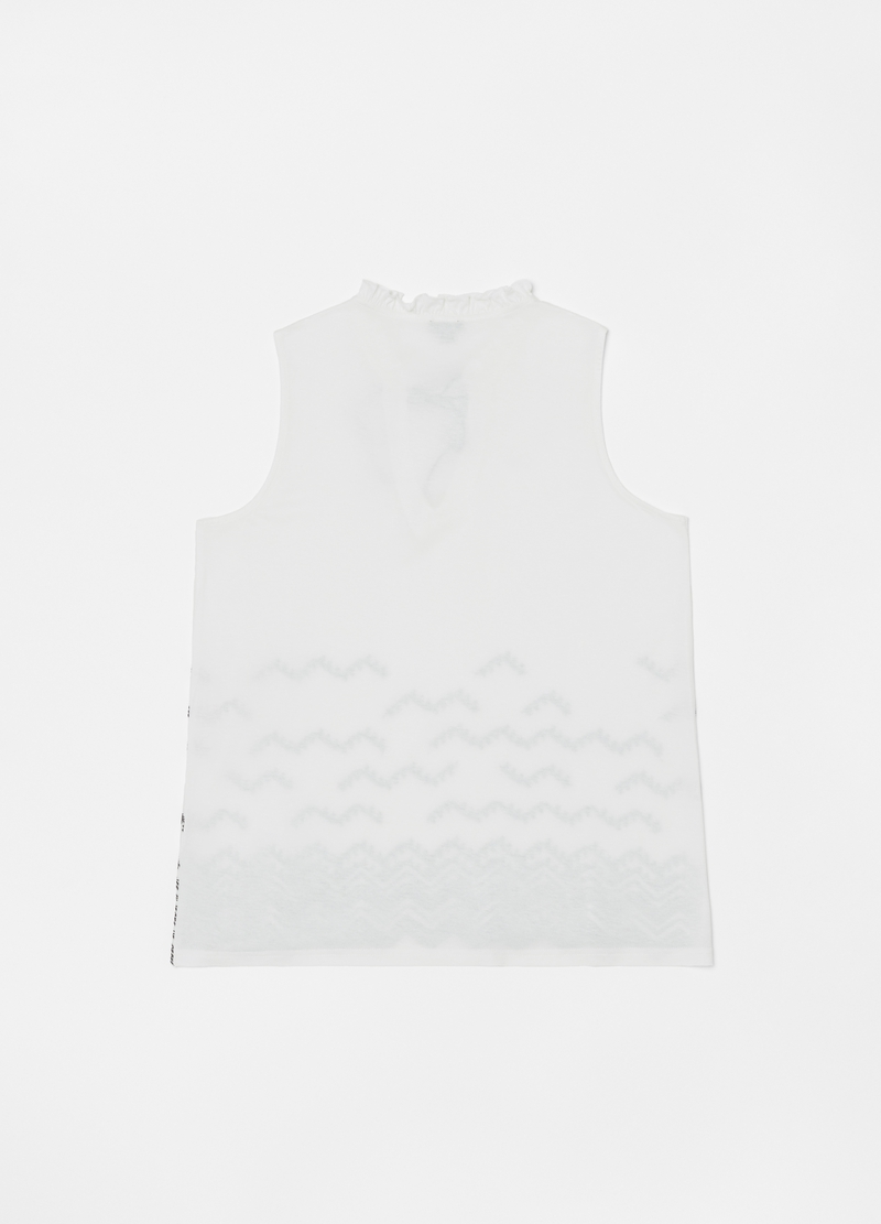 100% viscose tank top with drawstring image number null