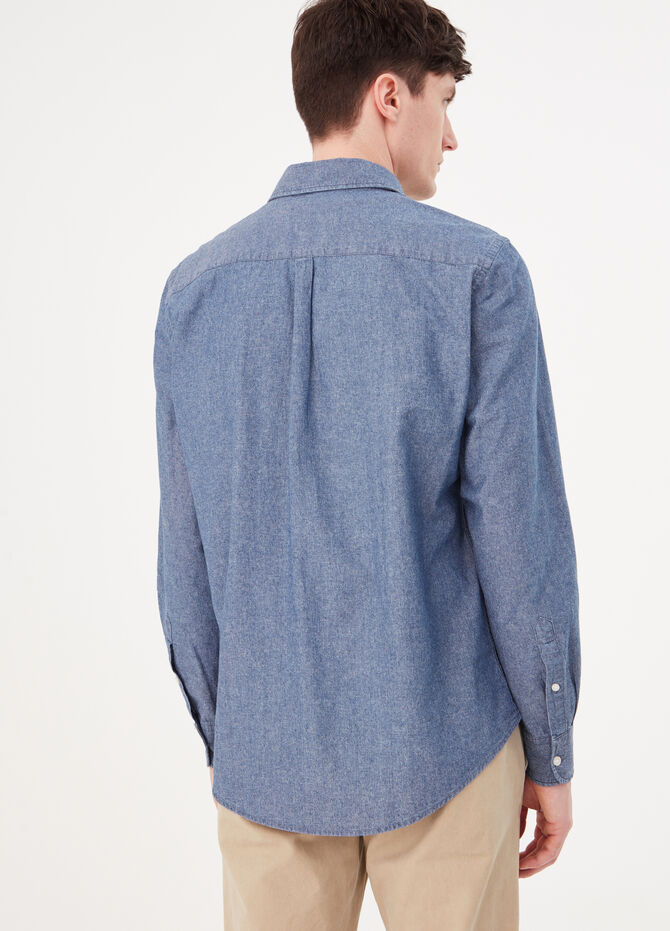 Camicia regular fit tessuto chambray