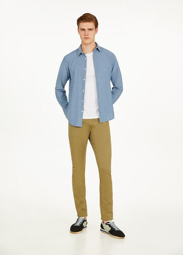 Pantaloni slim fit in cotone stretch