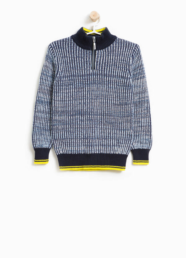 Knitted turtleneck jumper in 100% cotton | OVS