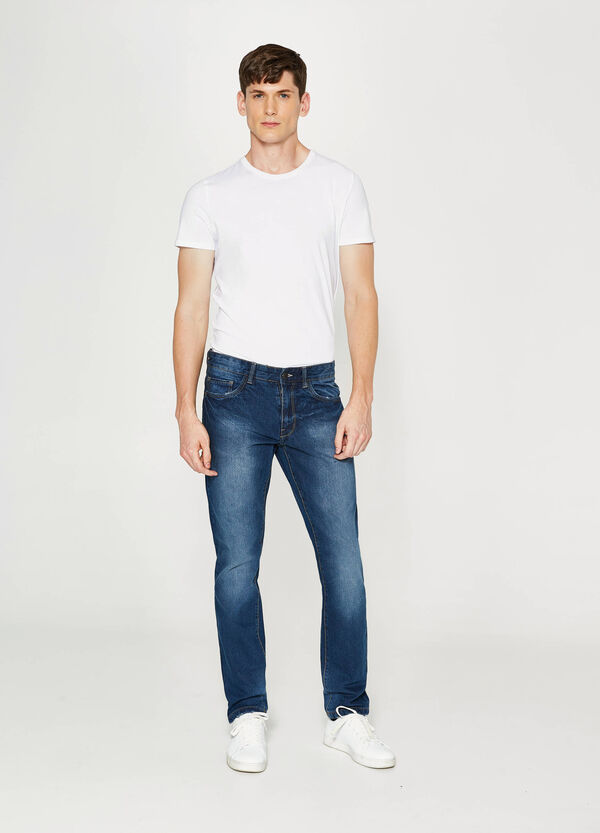 Straight-fit faded-effect jeans | OVS