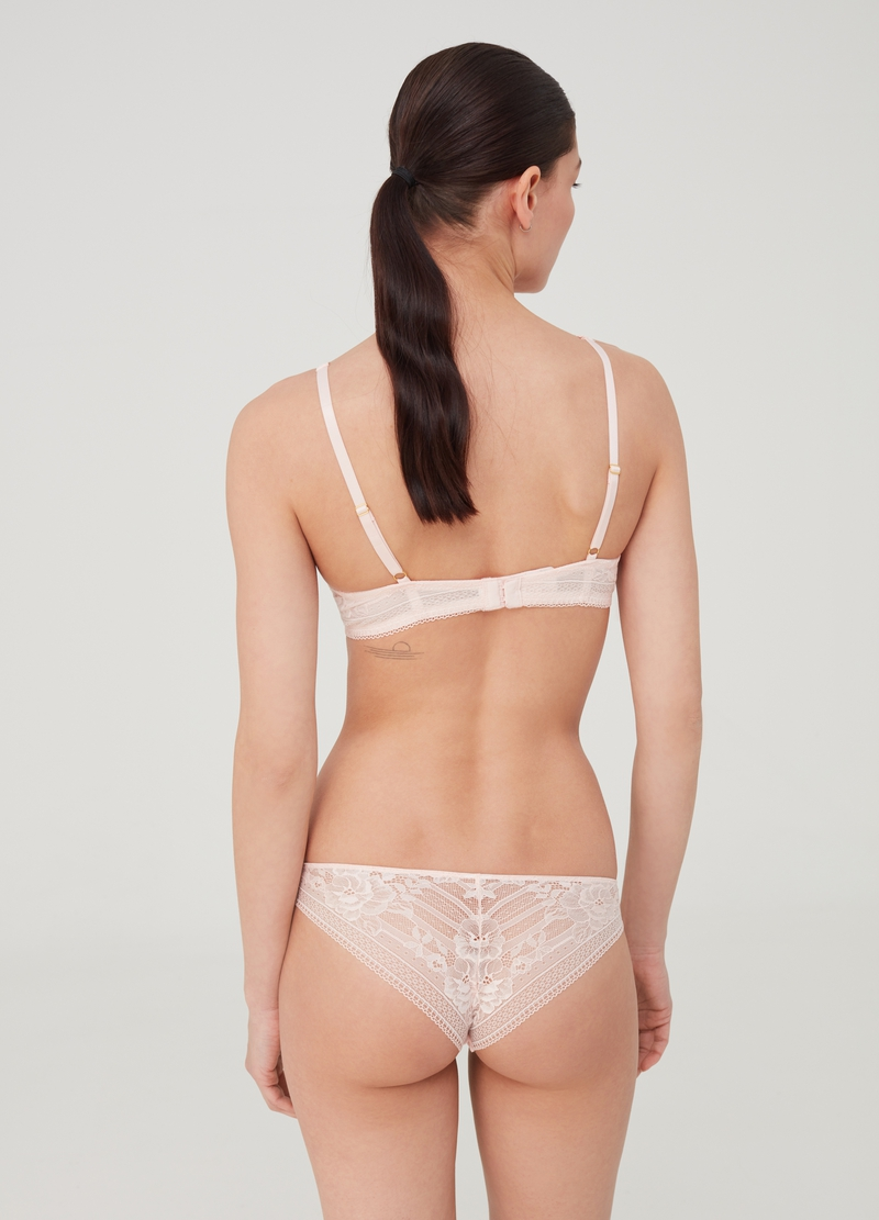 Classic briefs with stretch floral lace image number null