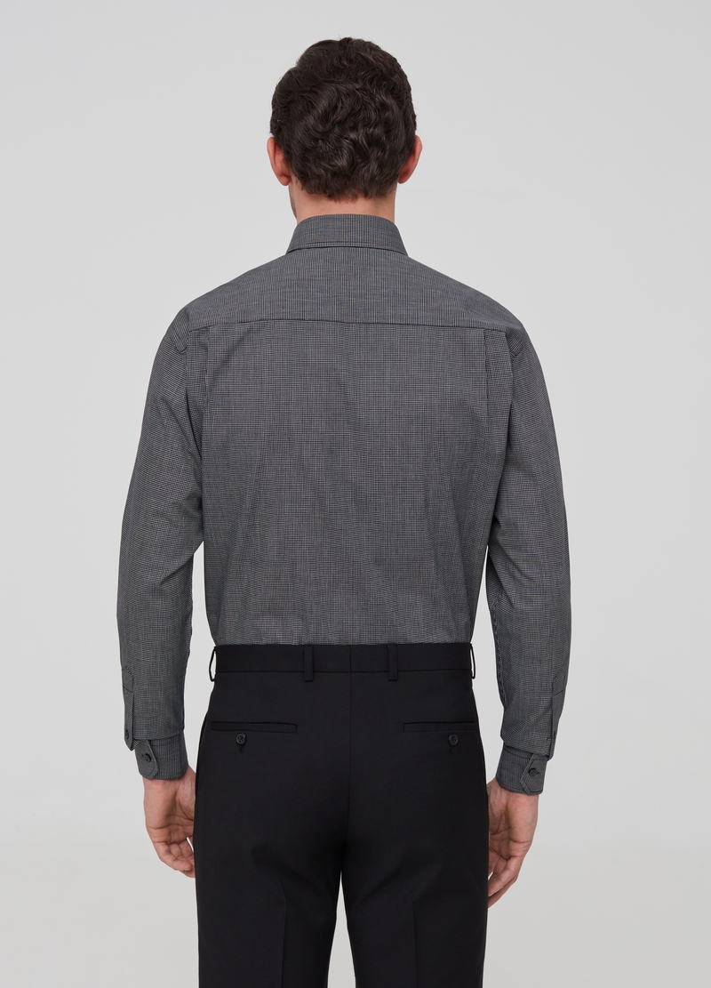 Regular fit shirt with check pattern image number null