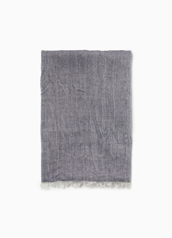Creased-effect viscose scarf