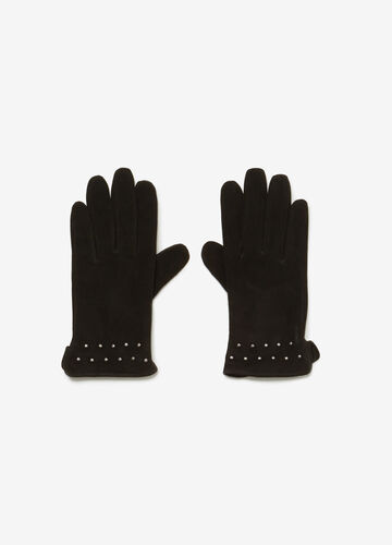 OVS Premium genuine leather with suede effect gloves