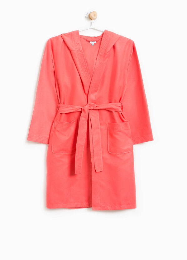 Bathrobe with hood and belt | OVS