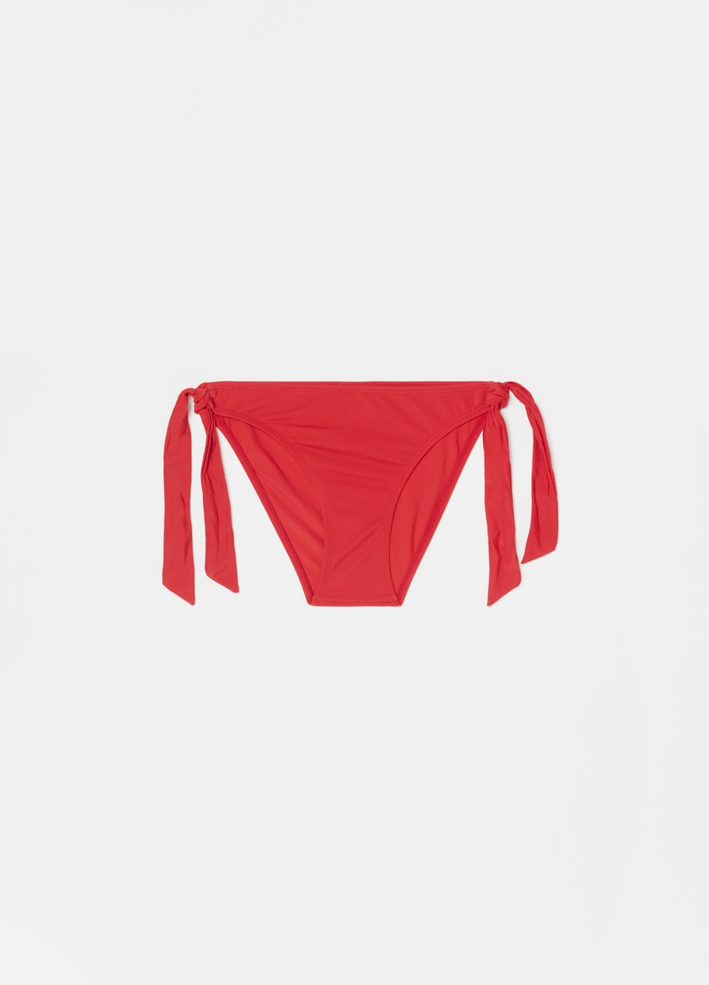 Stretch bikini briefs with ties image number null