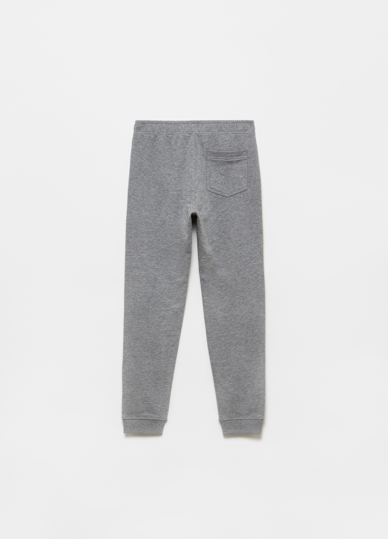 Mélange fleece joggers with pocket image number null