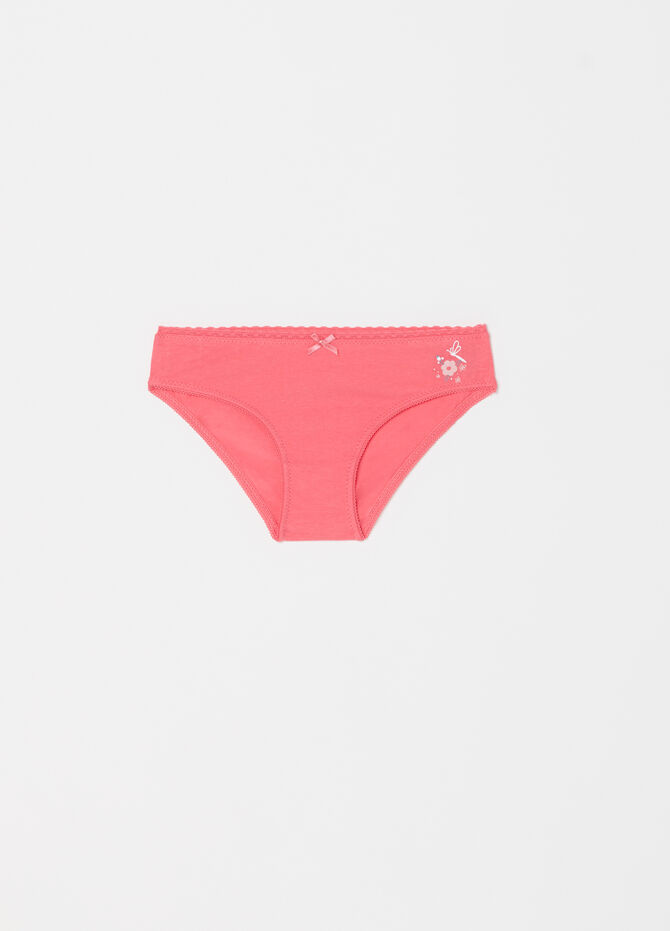 Organic cotton briefs with trim