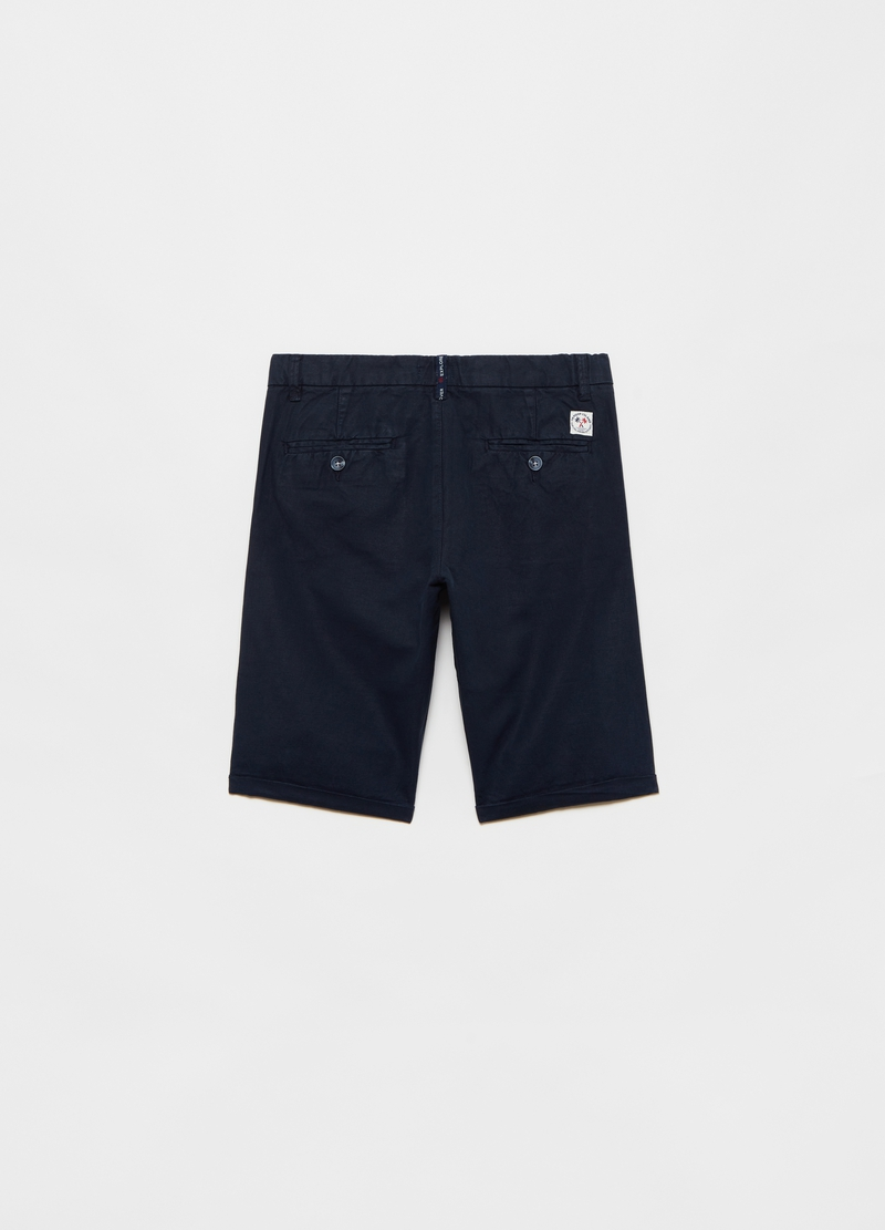 Bermuda shorts in linen and cotton image number null