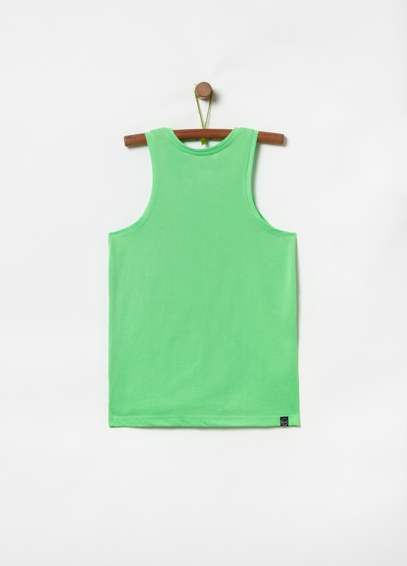 Pure cotton tank top with Maui and Sons print image number null