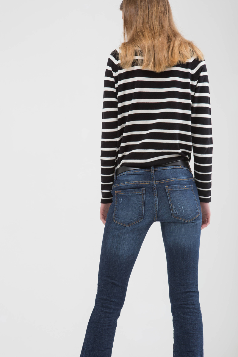 Jeans bootcut stretch effetto used image number null