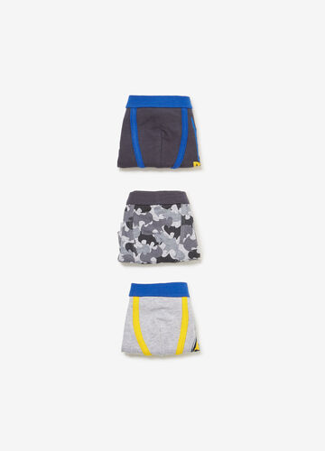Three-pack printed and Batman patterned boxers