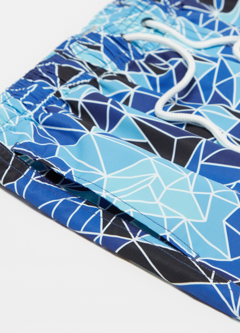 Swimming trunks with geometric pattern image number null