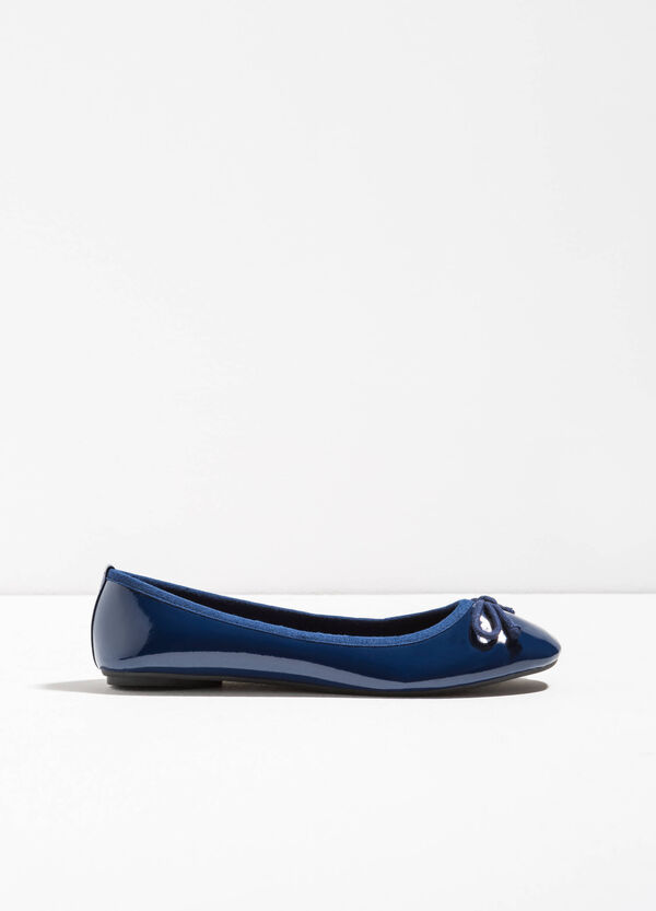 Ballerina flats with shiny upper | OVS