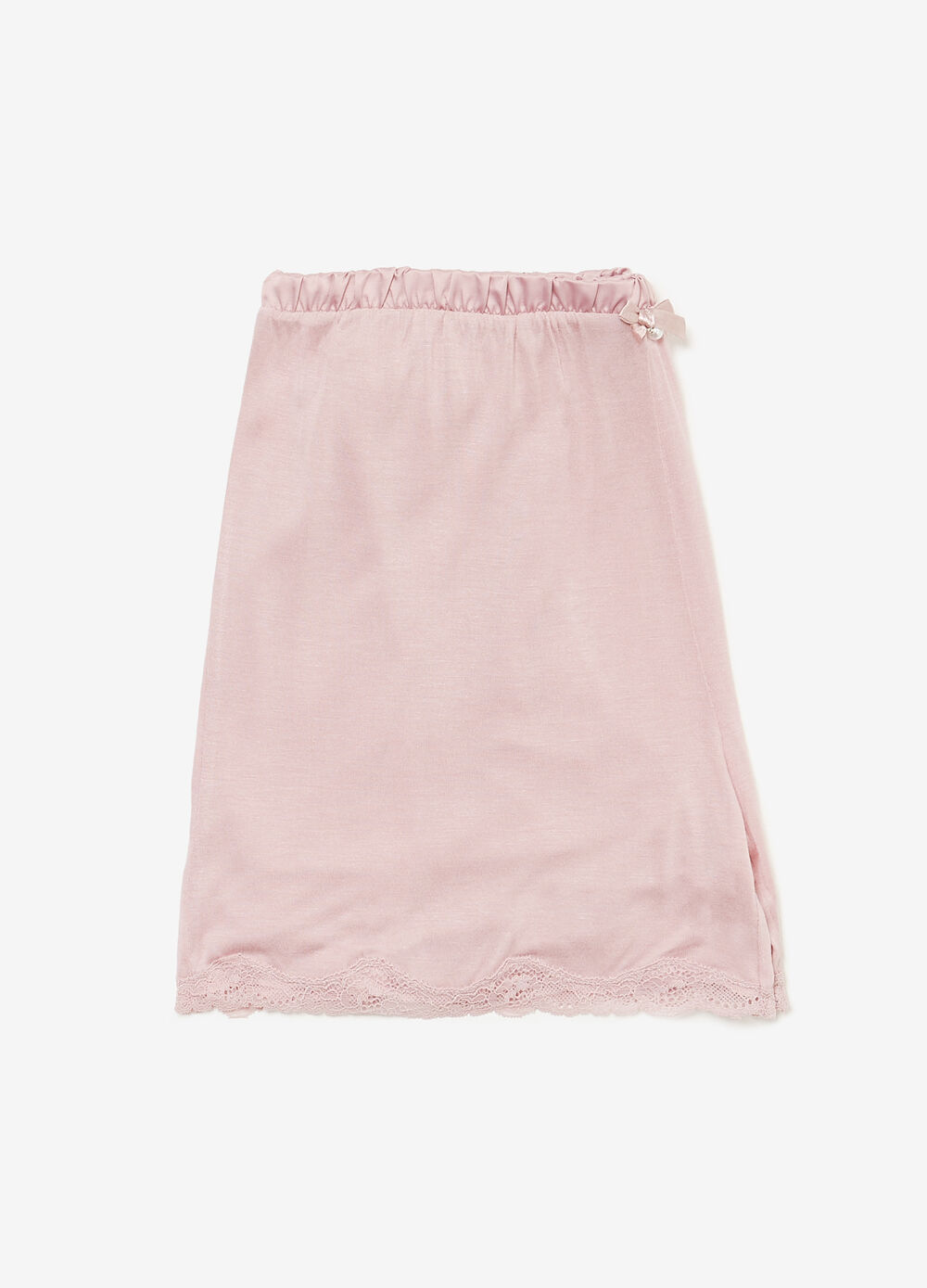 Shorts pigiama viscosa con pizzo