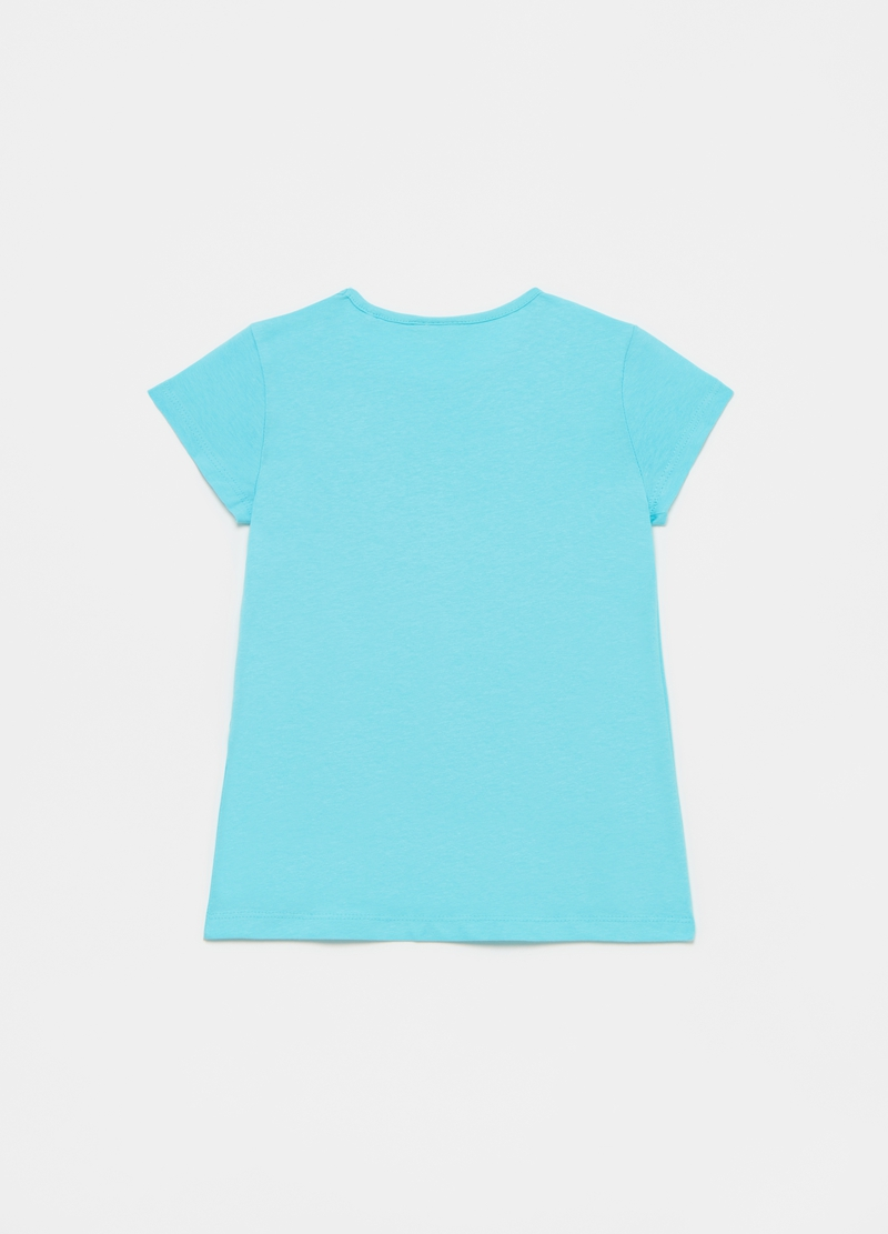 T-shirt con stampa tucani e glitter image number null