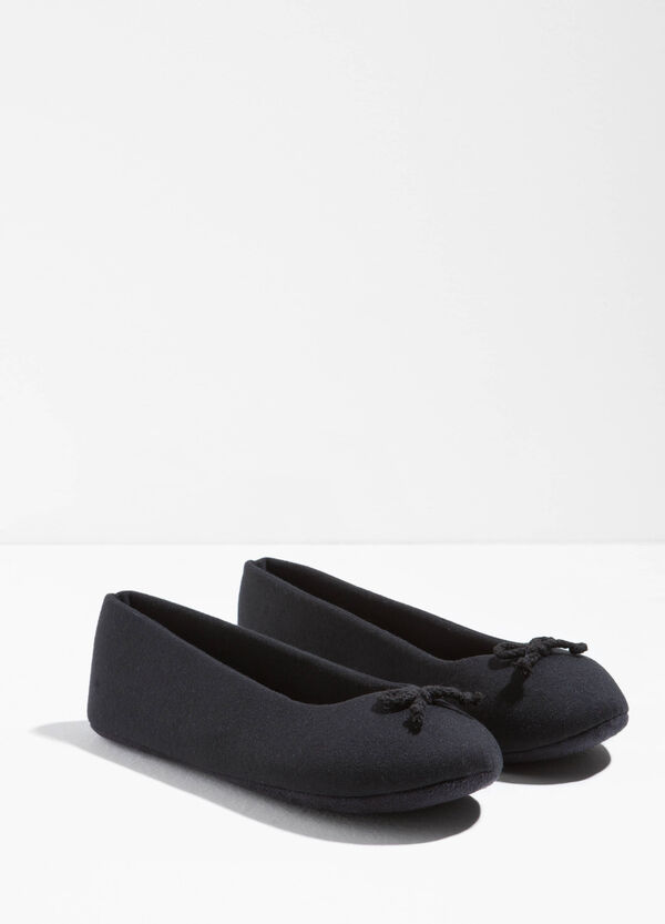 Canvas ballerina flats with bow | OVS