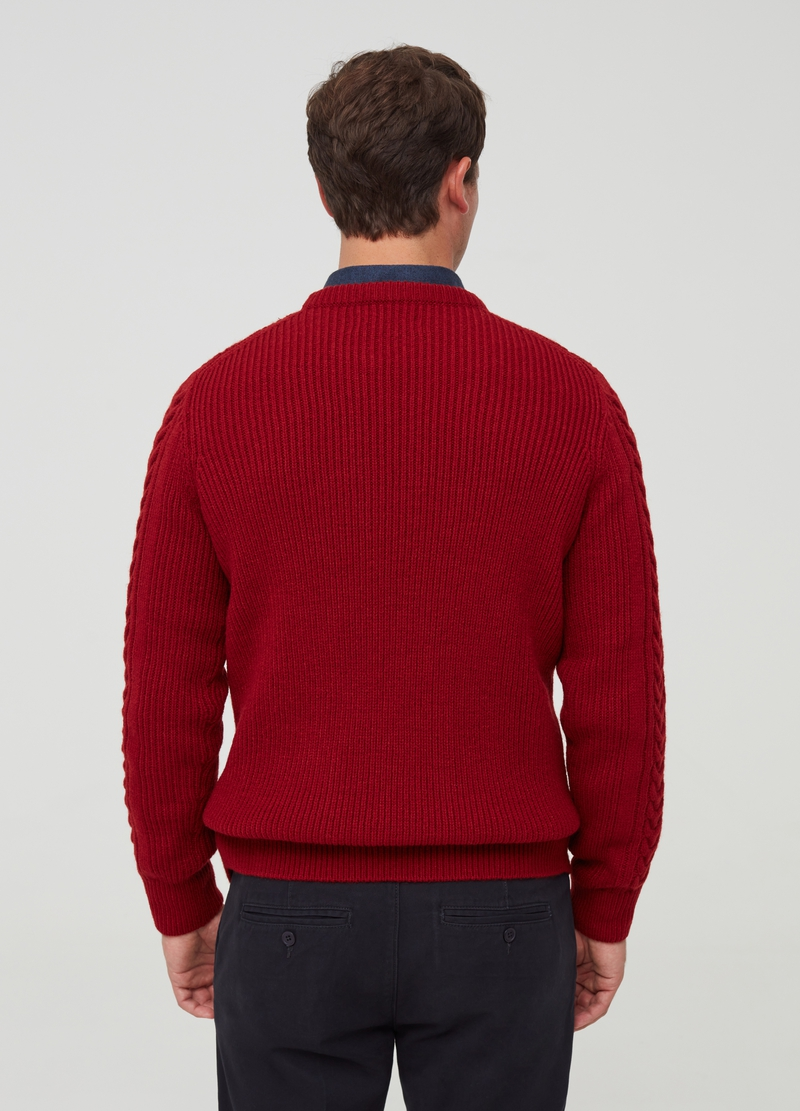 PIOMBO Pullover motivo a treccia image number null