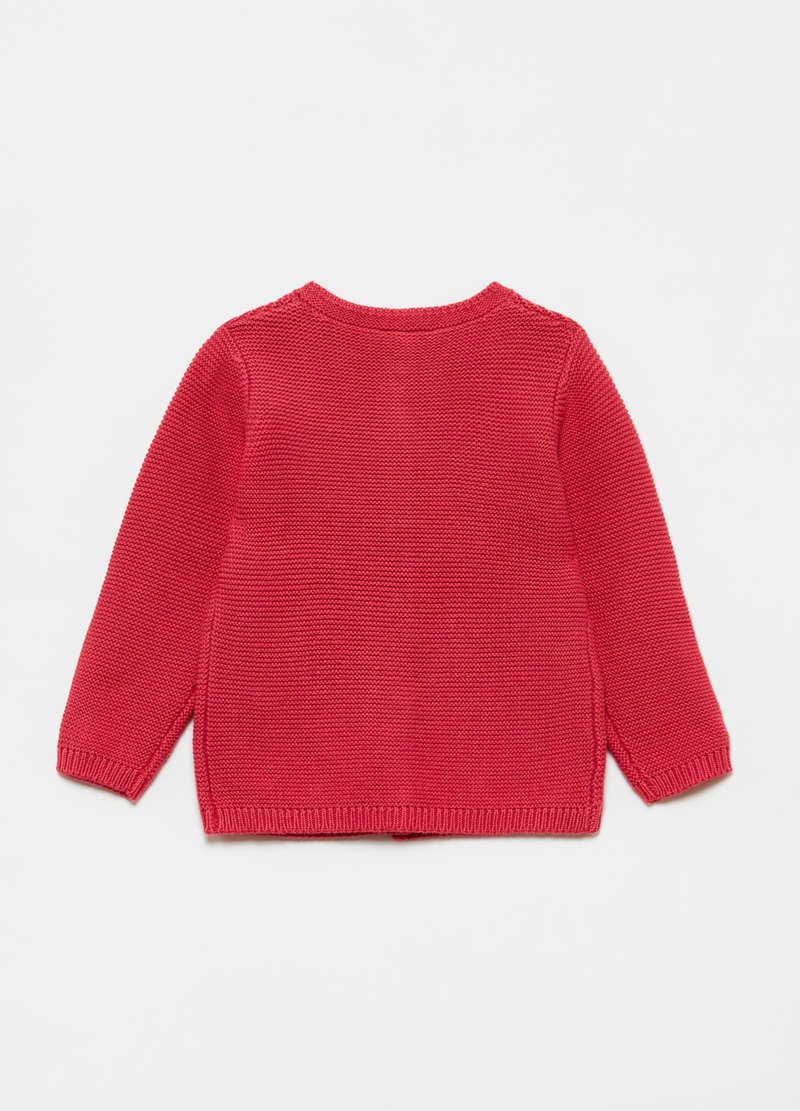 Cardigan in puro cotone tricot image number null