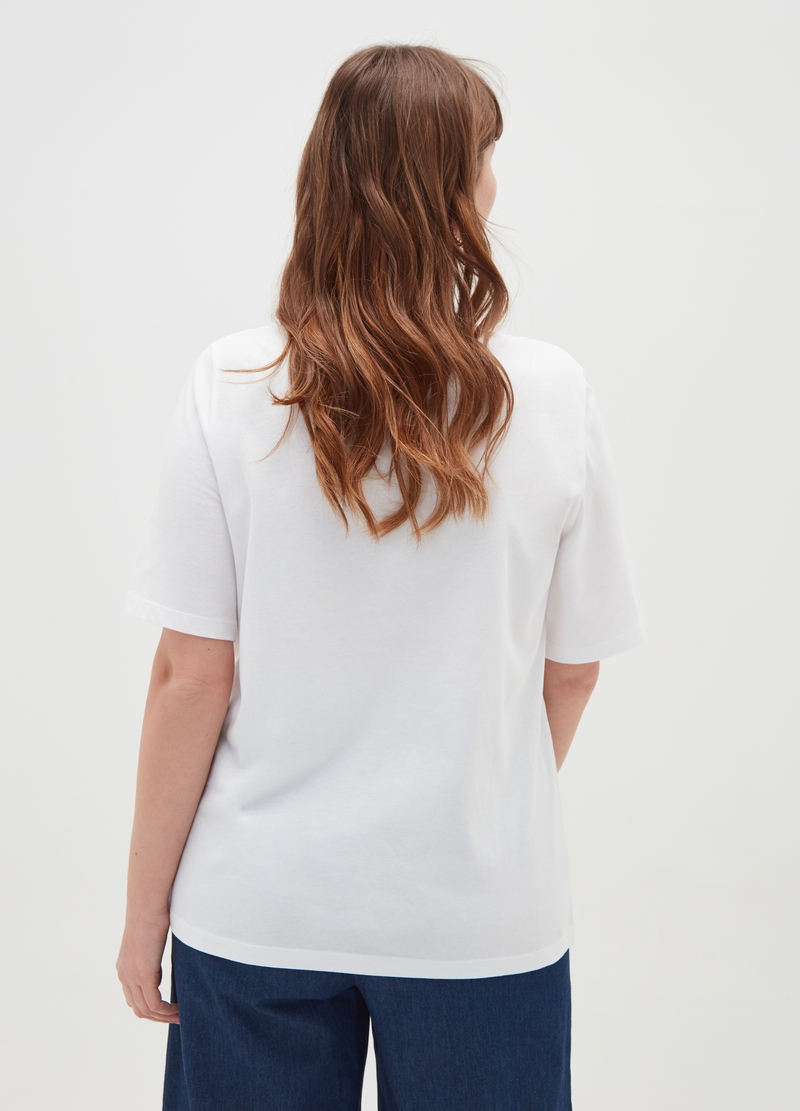 T-shirt puro cotone stampa Curvy image number null