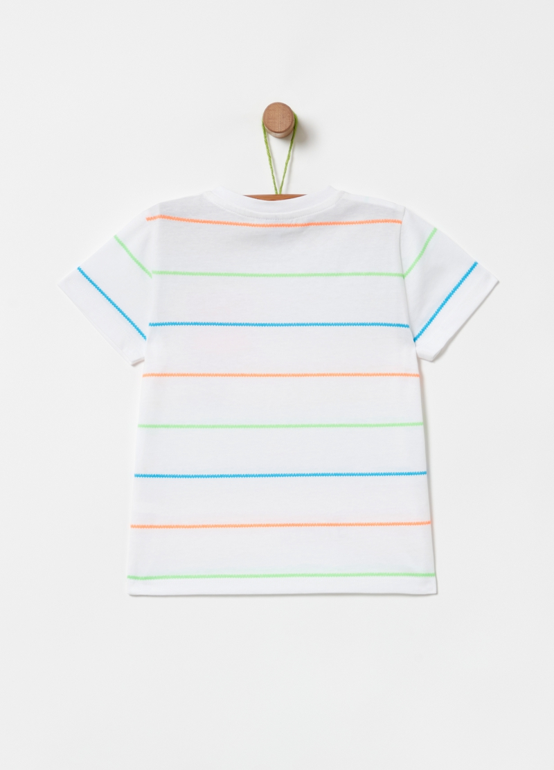 T-shirt con taschino stampa e fantasia image number null