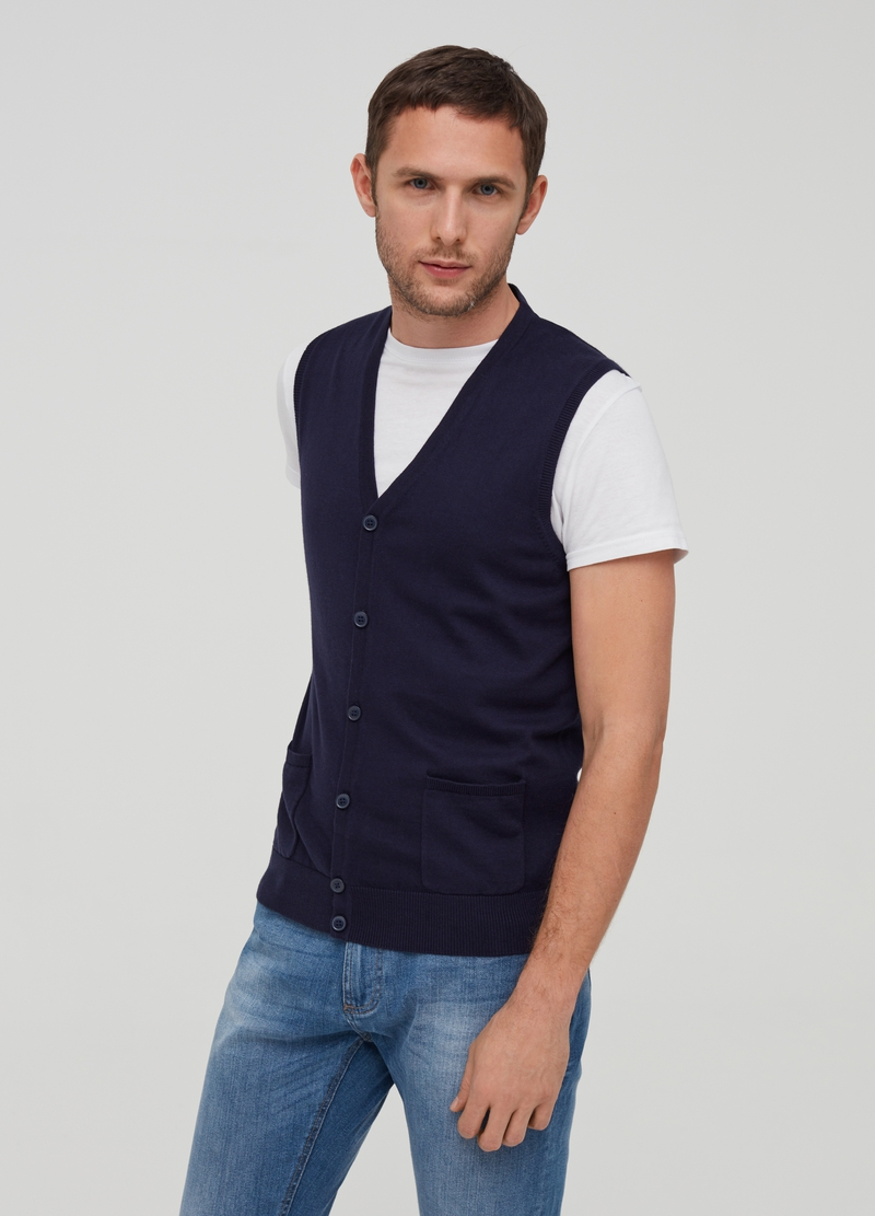 Gilet puro cotone tricot image number null