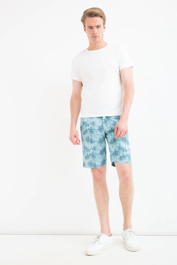 Patterned Bermuda shorts in 100% cotton