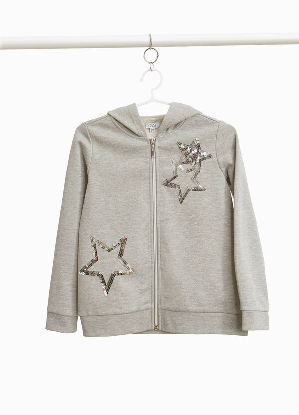 Sweatshirt with lurex and sequin stars