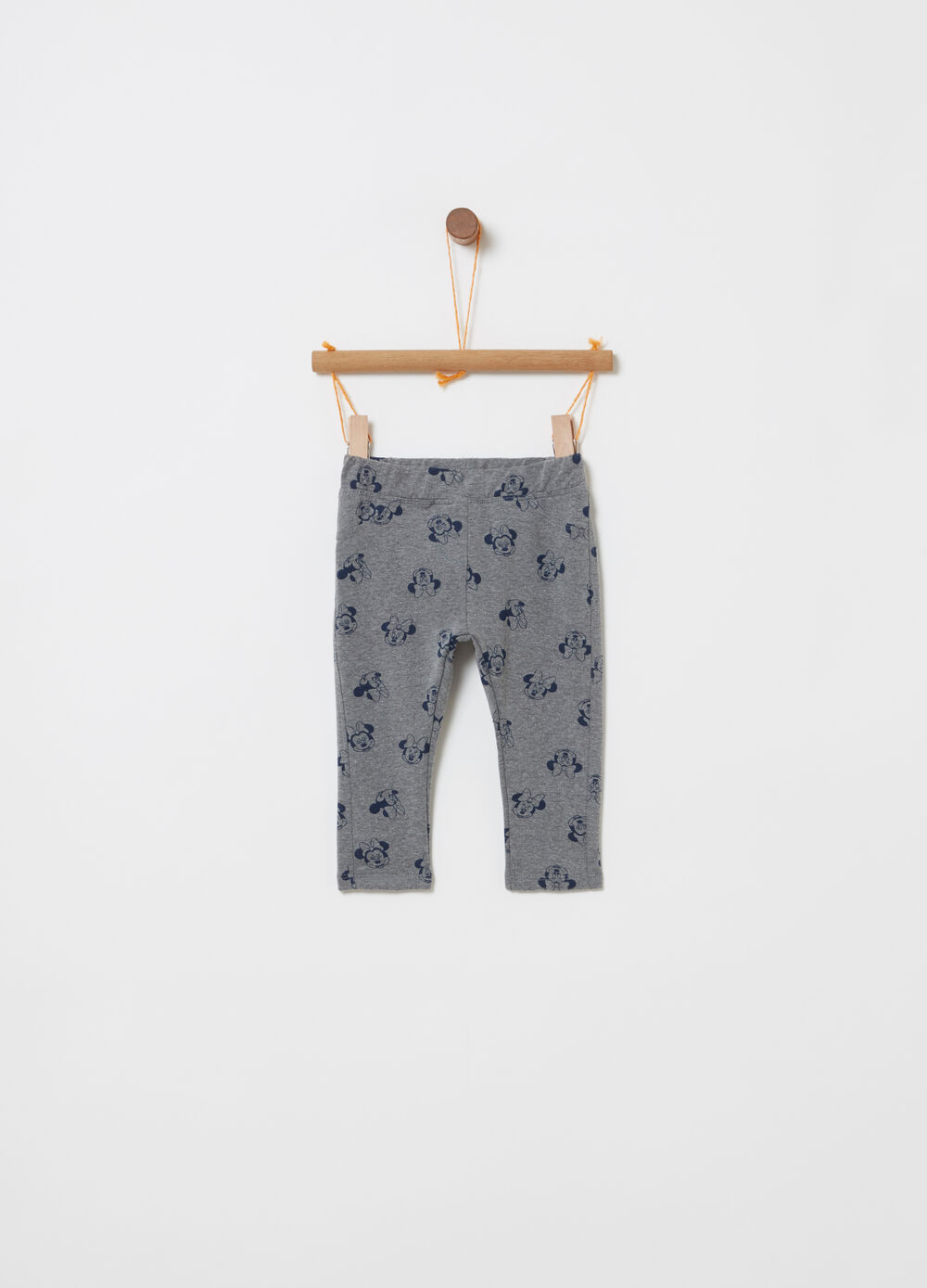 Jeggings con stampa Minnie all-over