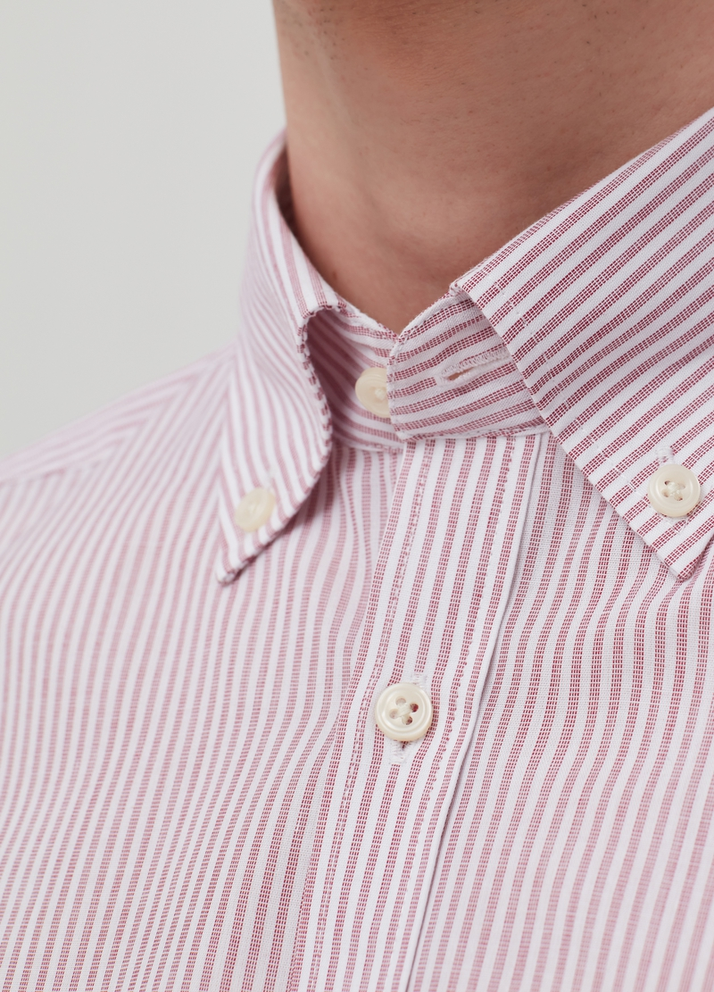 Slim-fit shirt with button-down collar image number null