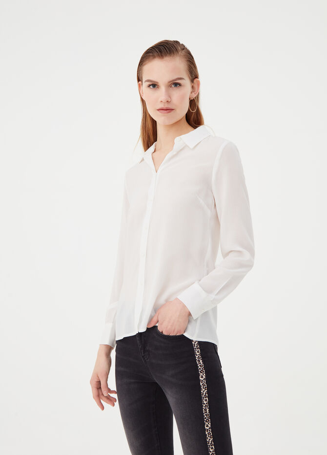 100% viscose shirt with bluff collar