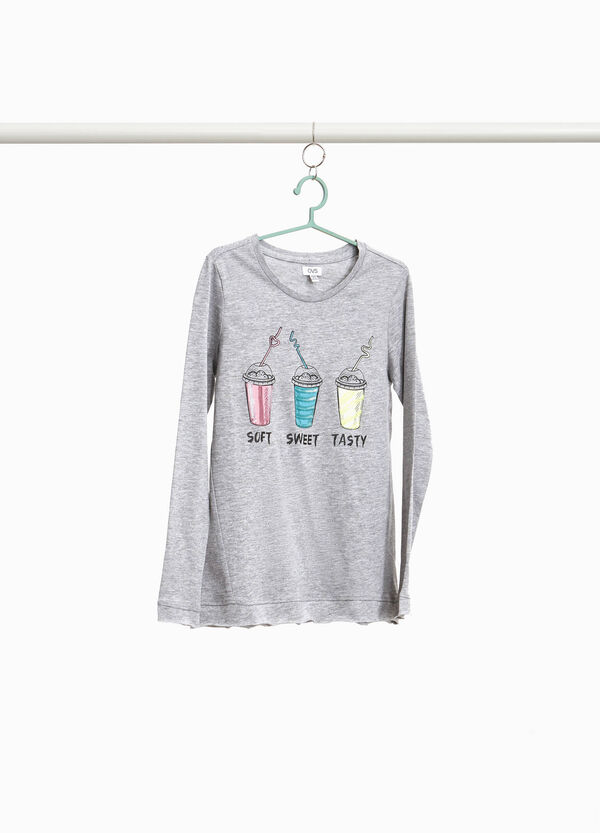100% cotton T-shirt with smoothies print