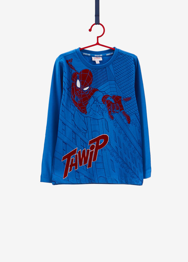 Maxi Spiderman print T-shirt in 100% cotton