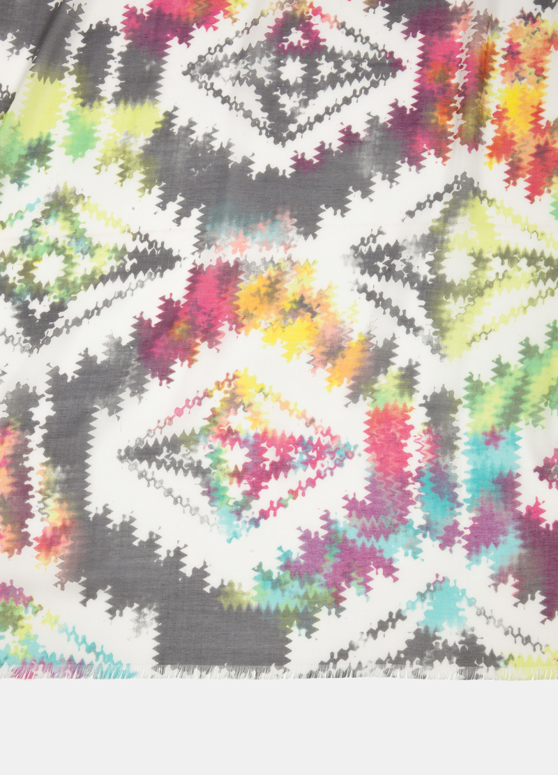 Multi-coloured scarf with geometric design image number null
