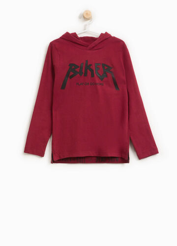 T-shirt con patch e stampa lettering