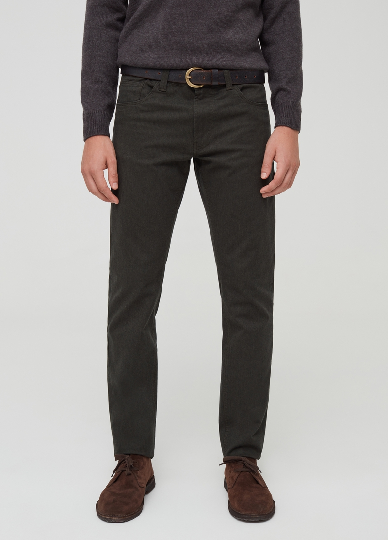 Five-pocket stretch cotton trousers image number null
